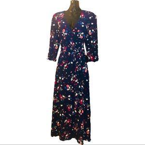 Floral A-Line Wrap Dress sz 4